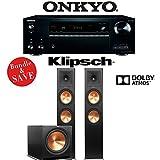 Onkyo TX-NR777 7.2-Channel 4K THX Certified Network A/V Receiver + Klipsch RP-280FA + Klipsch R-115SW - 2.1-Ch Home Theater Package