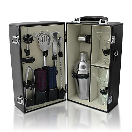 De Lux Cosmopolitan Travel Cocktail Set, Booze Box