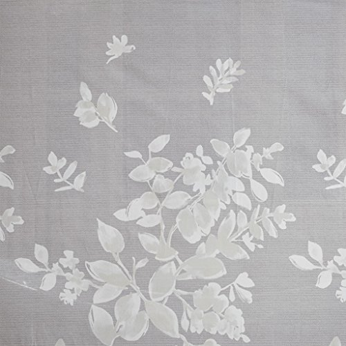 Gisella 100% Cotton Printed Shower Curtain Gray