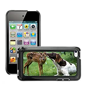 Hot Style Cell Phone PC Hard Case Cover // M00046243 licking wild fawn dog animals // Apple iPod Touch 4 4G 4th
