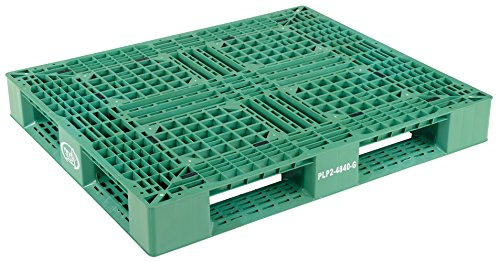 Vestil-PLP2-4840-GREEN-Green-Polyethylene-Pallet-with-4-Way-Entry-6600-lbs-Capacity-395-Length-47375-Width-6-Height