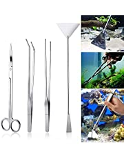 Czemo 4-częściowy zestaw do akwarium, akwarium, akwarium, terrarium, zbiornik, akcesoria, pęseta, nożyczki, szpatułka, zestaw narzędzi wodnych, ryby, zestaw startowy do zbiorników wodnych