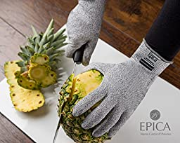 Epica Superior Quality Resistant Gloves with CE Level 5 Protection, 1 Pair Small/Medium