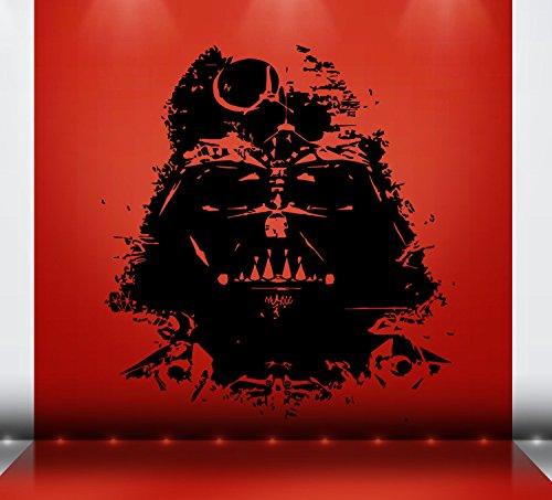 Darth Vader Decal Sticker Star Wars Sith Atat Death Star Yoda Storm Trooper Wall Art Wall Decals Wall Stickers Tr331 (Darth Vader Wall)