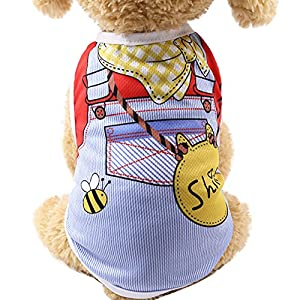 Clearance! JOYFEEL Pet Dog Clothes Summer Puppy Clothing Dog Cat Vest Shirt Fake Strap Tops (XXL, Sky Blue)
