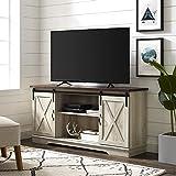 WE Furniture AZ58SBDWO Sliding Barn Door TV and Media Storage Console, White Oak