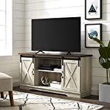 WE Furniture TV Stand, 58', White Oak