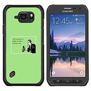 TECHCASE---Cubierta de la caja de protección para la piel dura ** Samsung Galaxy S6 Active G890A ** --Madre Tecnología Relaciones Cita