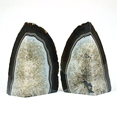 Agate Bookends with Rubber Bumpers