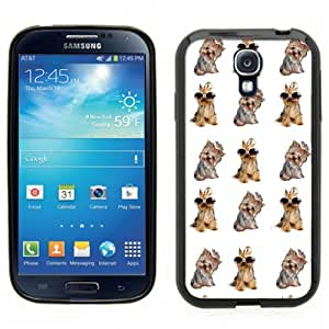 Samsung Galaxy S4 SIIII Black Rubber Silicone Case - Yorkie,Yorkshire Dogs with sunglasses
