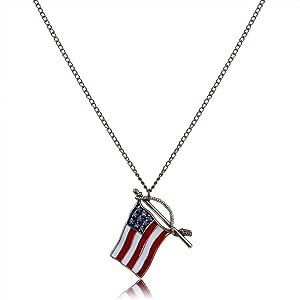 National flag Explosion models exaggeration fashion retro false collar necklace