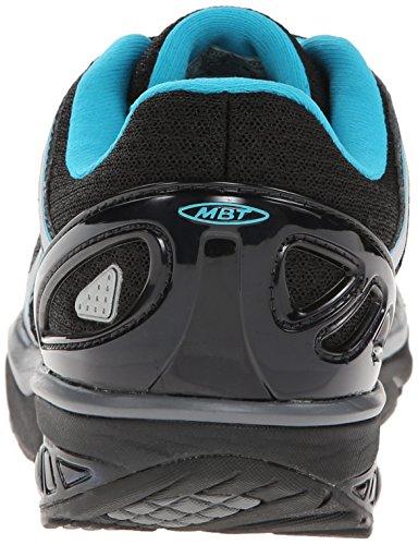 Mbt Womens Jahi Sport Nuetral Fashion Sneaker Nero / Blu Scuba