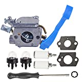 Butom C1Q-W37 Carburetor with 7-Teeth Splined Asjustment Tool Gasket for Husqvarna 125B 125BX 125BVX Leaf Blower 545081811