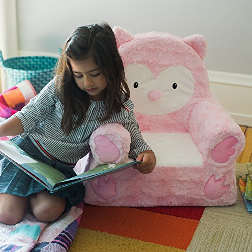 51Zm4EdynxL - Sweet Seats   Pink Owl Children's Chair   Large Size   Machine Washable Cover