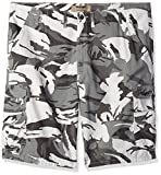 Wrangler Authentics Men's Big and Tall Premium Relaxed Fit Twill Cargo Short, White Camo, 48