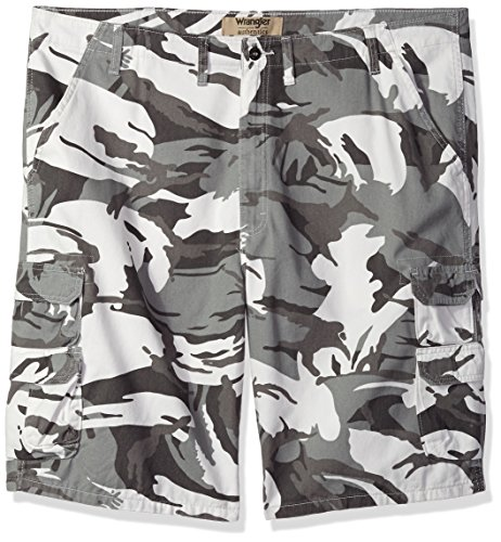 Wrangler Authentics Men's Big and Tall Authentics Bennard Twill Cargo Short, White Camo, 44 ()