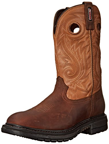 Rocky Men's 11 Inch Original Ride Western Boot, Dark Brown/Tan, 12 M US