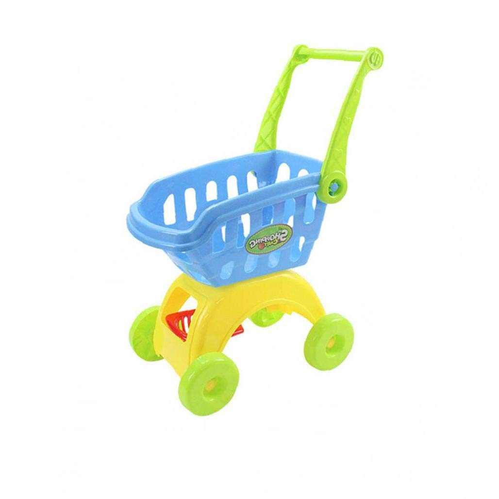 hong Wu Kids Shopping Trolleys Toy Shopping Cart for Kids Grocery Cart Early Eudcational Toys for Kids Boys and Girls Blue by hong Wu