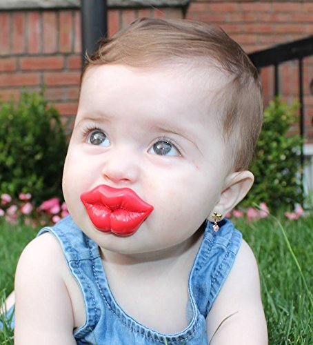 Big Red Lips (Crystal Dream Kiss Big Lips Red Pacifier (P3DR) New and)