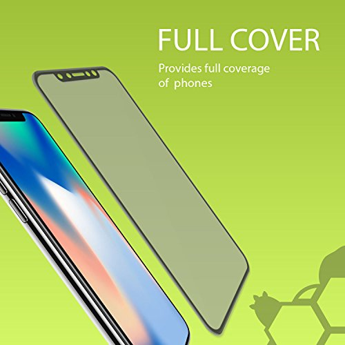 30PK - Private and Personal Protection View [3D Full Coverage] Screen Protector for Apple iPhone X, iPhone 10, Strong, Tough, and Reistant Anti Spy 3D Full Cover Tempered Glass by TortugaArmor by TortugaArmor (Image #1)