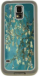 Rikki KnightTM Van Gogh Almond Blossoms Design Design Samsung? Galaxy S5 Case Cover (Clear Rubber with Bumper Protection) for Samsung Galaxy S5 i9600