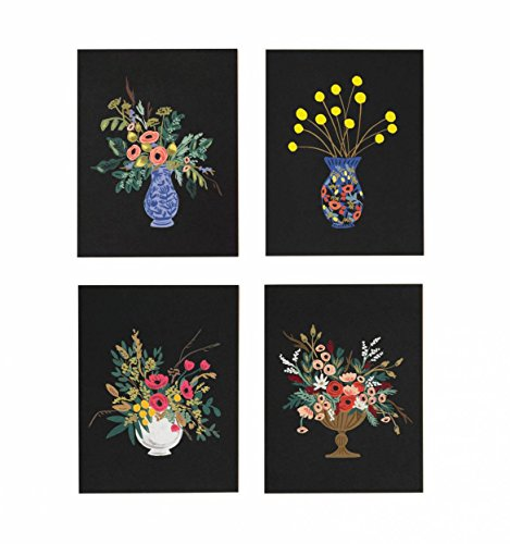Assorted Vase Studio Note Cards by Rifle Paper Co. -- Set of 8 Cards and Envelopes