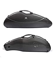 Yinfente 4/4 violin Case Mixed Carbon fiber Violin Box Strong Light With Password Lock 1.9kg weight 5 colors (black)