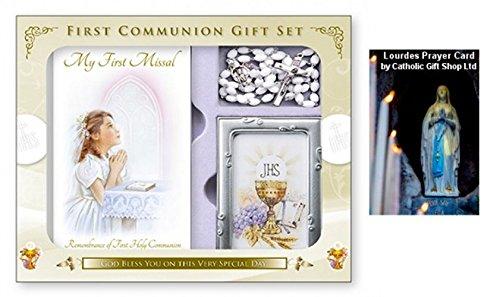 Catholic Gift Shop Ltd Set de regalo para comunión con marco de fotos y tarjeta de felicitación (C5176)