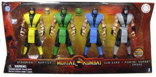 Mortal Kombat Retro 6 Inch Action Figure 4Pack Scorpion, Reptile, SubZero Smoke for $<!--$199.99-->