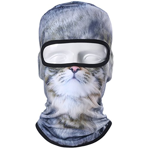 WTACTFUL Animal Balaclava Face Mask Breathable Wind Dust UV Helmet Liner Protection Skiing Snowboard Snowmobile Cycling Motorcycle Driving Riding Biking Fishing Hunting Music Festivals Halloween BNB71 -