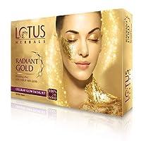 Lotus Herbal Radiant Gold Cellular Glow Facial Kit, 37g