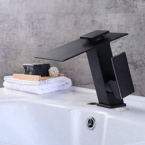 ZT-TTHG 実用的な現代のブラックバスルームの洗面台の蛇口の滝の斜め下のカウンター盆地接触型銅温水と冷水の蛇口セット美しいです