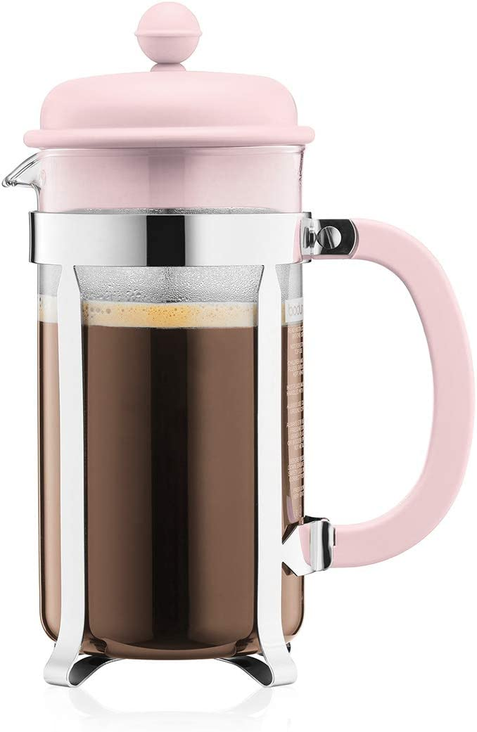 Bodum 1918-340B-Y19 Caffettiera French Press Coffee and Tea Maker, 34 Oz, Light Pink