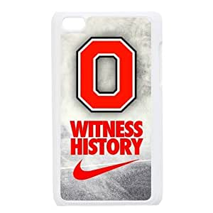 DIY Design Dream 8 Sports NCAA Ohio State Buckeyes Print White Case With Hard Shell Cover for Apple iPod Touch 4-Just DO It