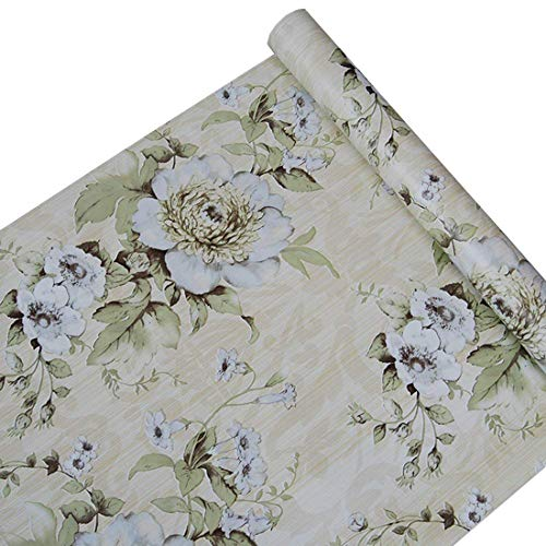 Self Adhesive Decorative Vintage Floral Contact Paper Shelf Liner Peel and Stick Removable Wallpaper for Shelves Drawer Furniture Wall Arts and Crafts Decoration 17.7x78.7 Inches