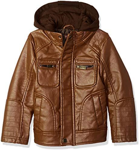 Urban Republic Big Boys 70Percentpvc 30Percentpu L/s Jacket, Cognac, 14/16