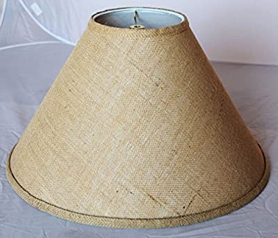 """Coolie Burlap Lamp Shade Sizes 16-24""""W Vintage Rustic Country Industrial Primitive Table & Floor Lamps"""