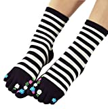Panda Superstore Womens [Floral Garden] Five Toes Socks Five Fingers Cartoon Socks 1 Pair