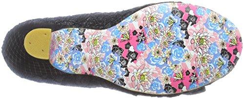 para de Punta Mujer Razzle Black con Dazzle Cerrada Tacón Zapatos Ay Choice Irregular Negro qzp6II