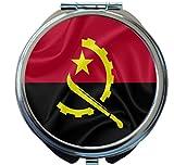 Rikki Knight Angola Flag Design Round Compact Mirror
