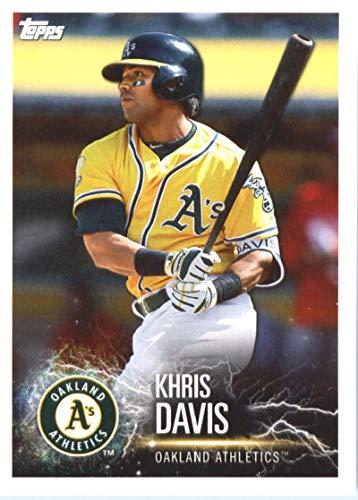 2019 Topps MLB Stickers Baseball #77 Khris Davis/Carlos Correa Oakland Athletics/Houston Astros Trading Card Sized Album Sticker with Collectible Card - Album Astros Houston Photo