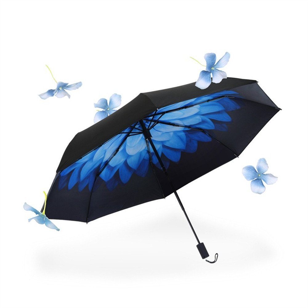 Double Layer Compact Pocket-Sized Printed Anti-UV Windproof Waterproof Sturdy Travel Umbrella ,B by NOHOPE-Umbrella