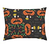 Roostery Halloween Witch Comic Pumpkin Crown Ballet Day of The Dead Standard Knife Edge Pillow Sham Dance Halloween Pumpkins by Chicca Besso 100% Cotton Sateen