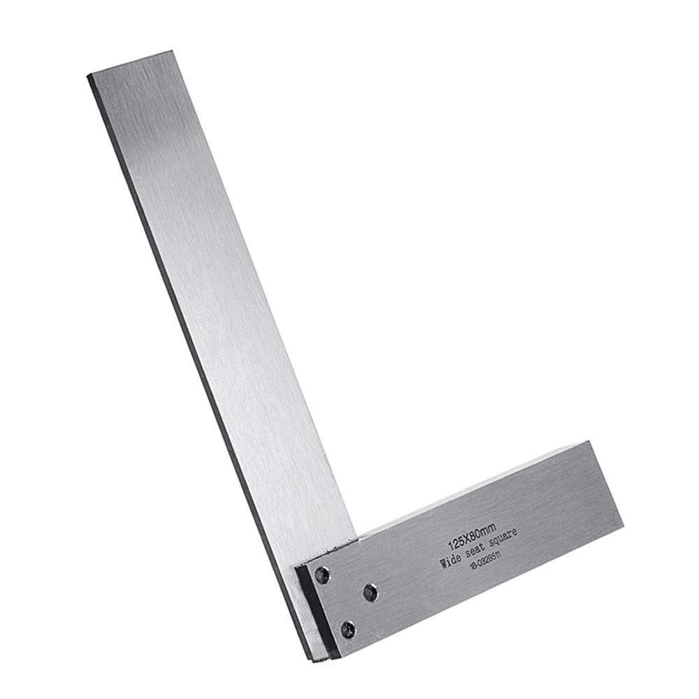 Machinist Square Set Engineer 90 Right Angle Precision Ground Hardened Steel Angle Ruler 200x125mm