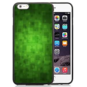 Beautiful Custom Designed Cover Case For iPhone 6 Plus 5.5 Inch With Green Overlapped Blocks Phone Case