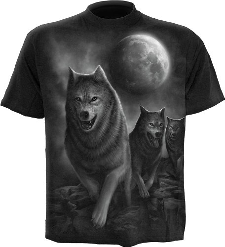 Spiral - Mens - Wolf Pack WRAP - T-Shirt Black - ()