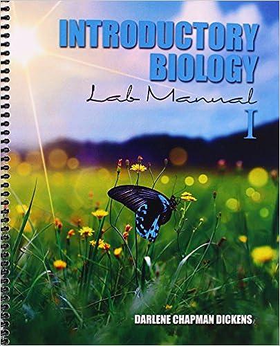 Amazon 1 introductory biology lab manual i 9781465270337 1 introductory biology lab manual i 1st edition fandeluxe Images