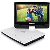 NAVISKAUTO 10.1 Portable Blu Ray DVD Player Support 3-5 Hours, HDMI Output, Sync Screen, AV Out & in, 1080P HD, USB SD, Dolby Audio