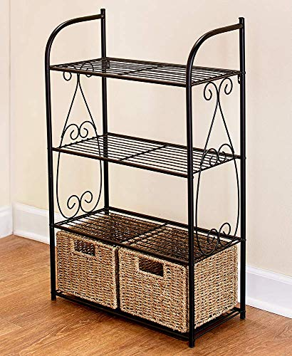 Seagrass Accent - Seagrass Accent Bathroom Collection, Linen Shelving