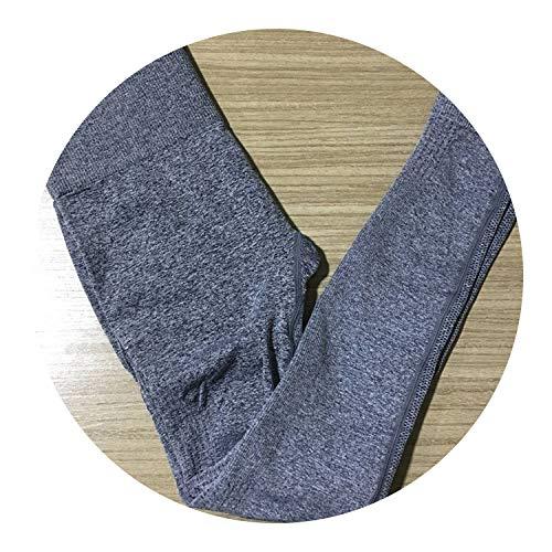 (New Stretchy Gym Tights Energy Ombre Seamless Leggings Tummy Control Yoga Pants High Waist Sport Running Pants Yoga Leggings,1111 Gray,S)